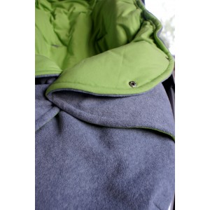 Mikroflīsa kūniņa ar kokvilnas oderīti. Pelēks/zaļš